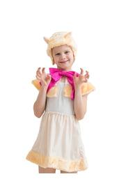 Детский костюм бежевой кошки