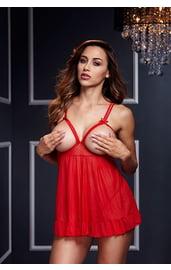 Красная открытая сорочка