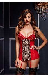 Красно-леопардовая сорочка
