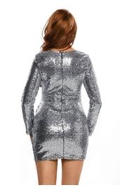 Серебристое платье для клуба