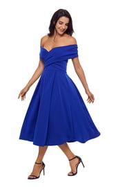 Синее торжественное платье