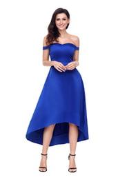 Синее платье для выпускного