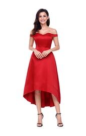 Красное длинное платье для выпускного