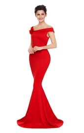 Вечернее красное платье в пол