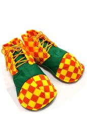 Детские ботинки клоуна в клетку