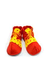 Детские ботинки клоуна в горох