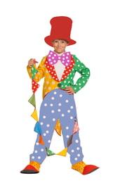 Детский костюм клоуна с красной шляпой