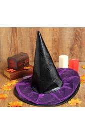 Черно-фиолетовая шляпа ведьмы