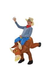 Надувной костюм верхом на быке