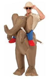 Надувной костюм Верхом на слоне
