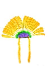 Желтый головной убор индейца