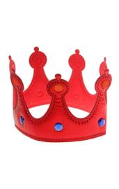 Красная корона со стразами