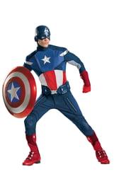 Взрослый костюм Капитана Америки Делюкс