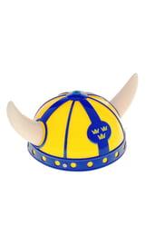 Желто-синий шлем викинга