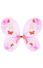 Детские крылья с розовой лентой