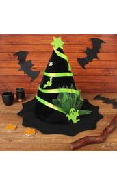 Черно-зеленая шляпа ведьмы