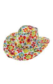 Цветочная ковбойская шляпа