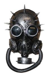 Серебряная стимпанк маска