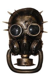 Бронзовая стимпанк маска