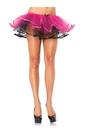 Подъюбник двухцветный черно-розовый