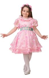 Детский костюм Дюймовочки в розовом
