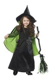 Детский костюм Зеленой ведьмочки