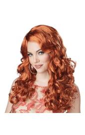 Рыжий кудрявый парик