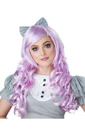 Фиолетовый парик куклы