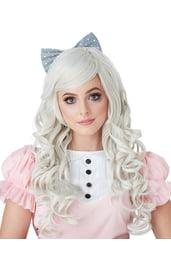 Белый парик куклы