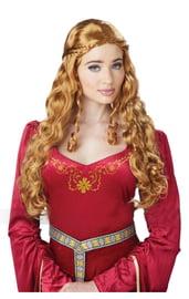 Светлый парик средневековой дамы