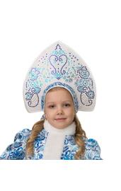 Детский кокошник Гжель для снегурочки