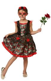Детский костюм Катрины на День Мертвых