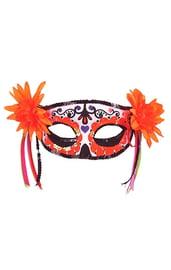 Оранжевая маска на День мертвых