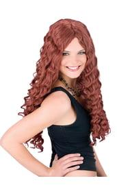 Рыжий длинный парик 60 см