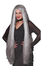Длинный седой парик 90 см