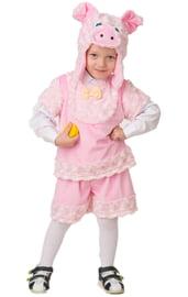 Детский костюм розового поросенка