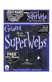 Паутина с пауками 60 грамм черная