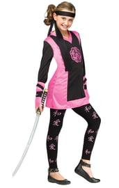 Детский костюм розово-черной Ниндзя