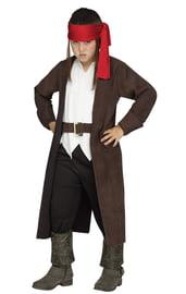 Детский костюм пирата в плаще