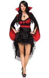 Костюм черно-красной вампирши