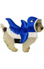 Костюм голубой акулы для собаки