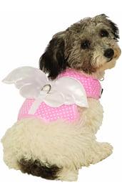 Шлейка с белыми крыльями для собаки