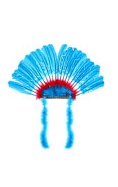 Голубой головной убор индейца