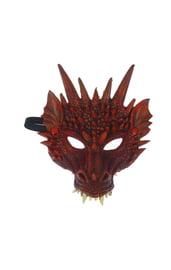 Карнавальная маска красный Дракон