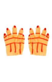 Карнавальные перчатки Рука красная