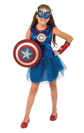 Костюм Капитана Америки для девочки