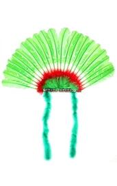 Зеленый головной убор индейца