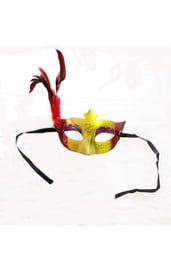 Золотисто-красная маска