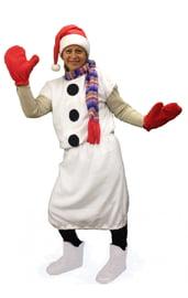 Костюм Снеговика в красном колпаке
