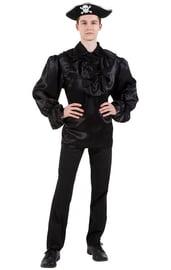 Черная рубашка пирата